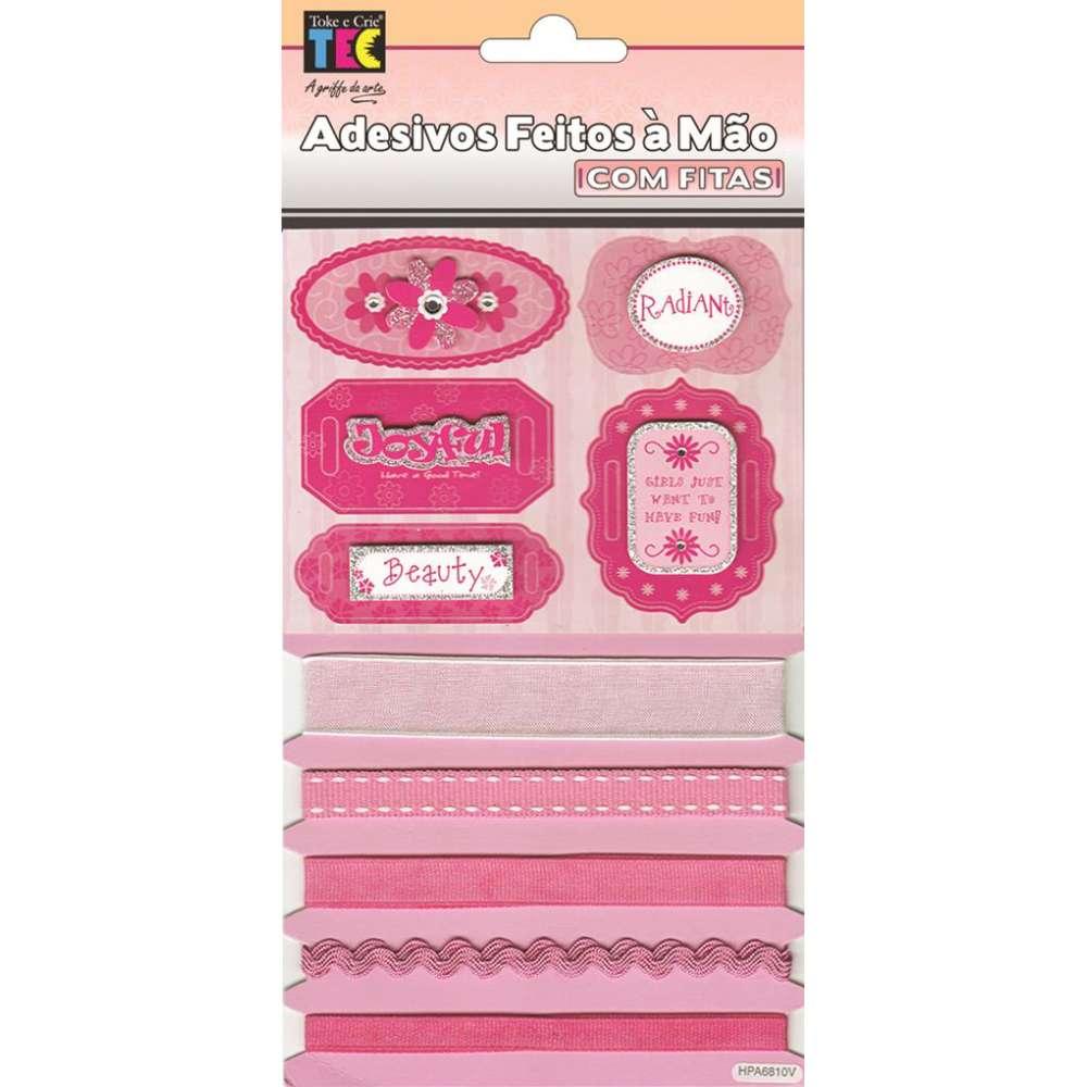 Adesivo Fm 18x11 Cm Com Fitas Garotas Pink
