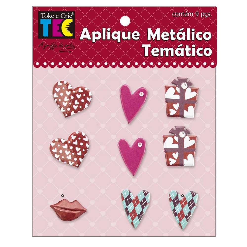 Aplique Metalico Tematico 11,5x9 Cm Amor