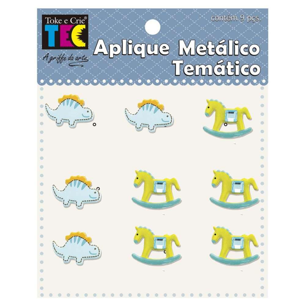 APLIQUE METALICO TEMATICO 11,5X9 CM BEBE MENINO