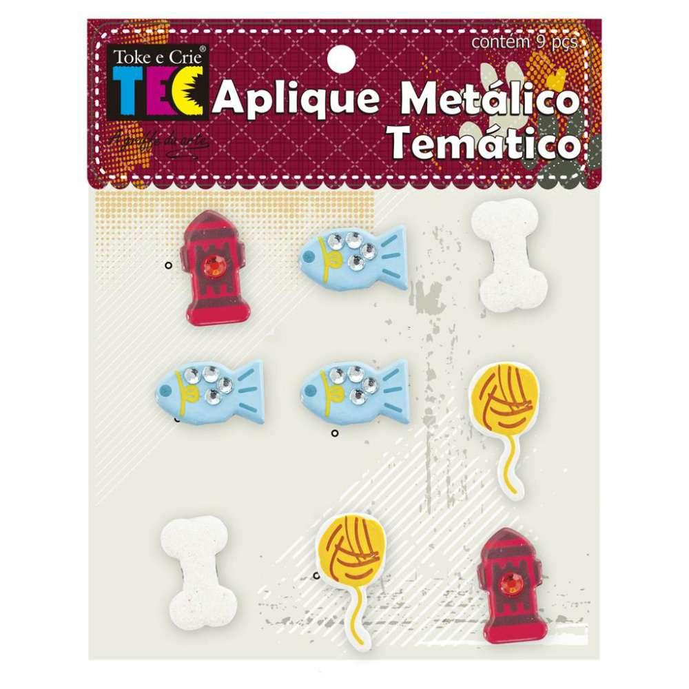 APLIQUE METALICO TEMATICO 11,5X9 CM PET