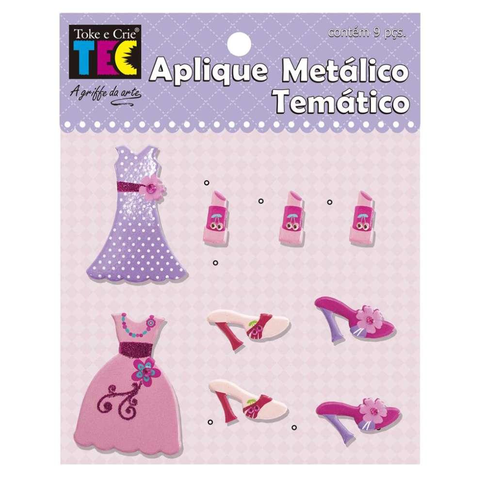 APLIQUE METALICO TEMATICO 11,5X9 CM PRINCESA