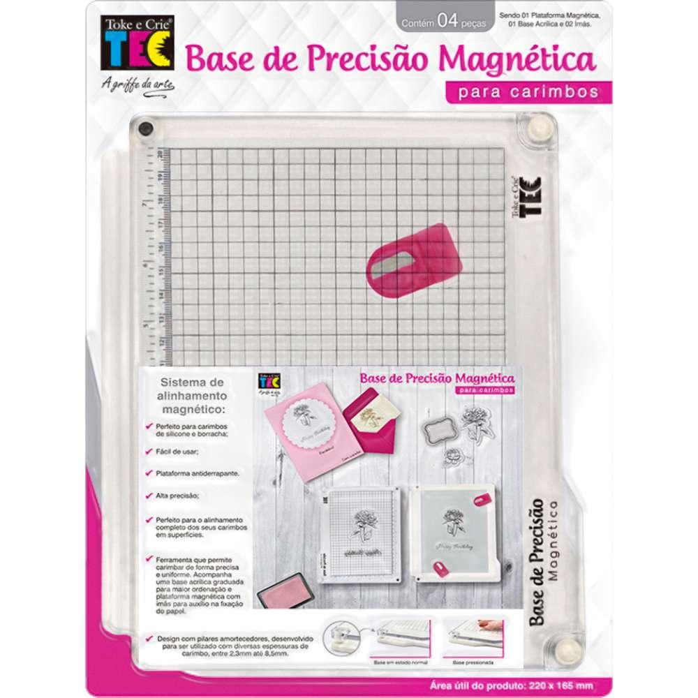 BASE DE PRECISÃO MAGNÉTICA PARA CARIMBOS 220X165 MM