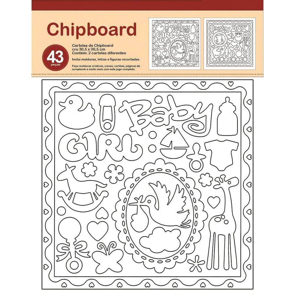 CHIPBOARD BEBÊ 30,5X30,5 CM
