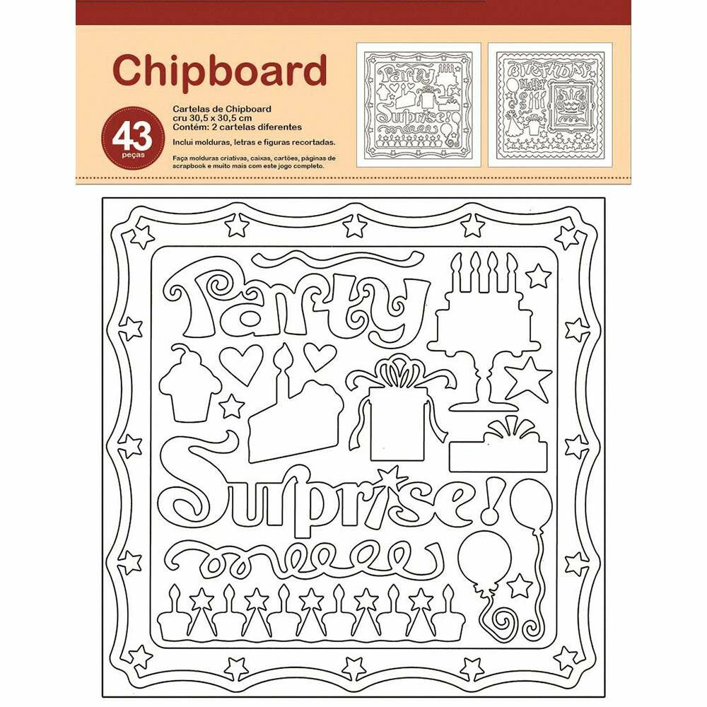 CHIPBOARD FESTA 30,5X30,5 CM