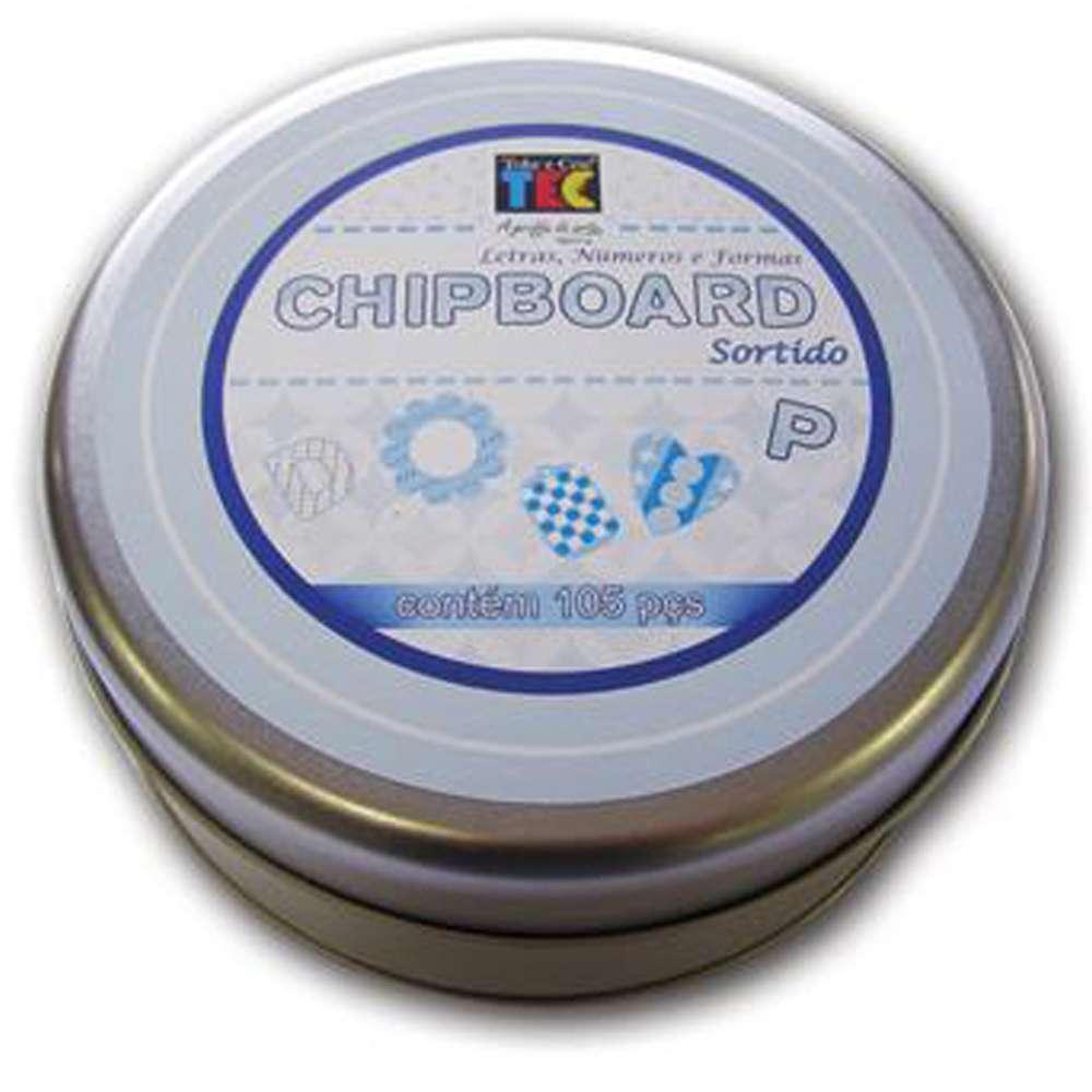 CHIPBOARD SORTIDO AZUL CLARO C/105 PCS