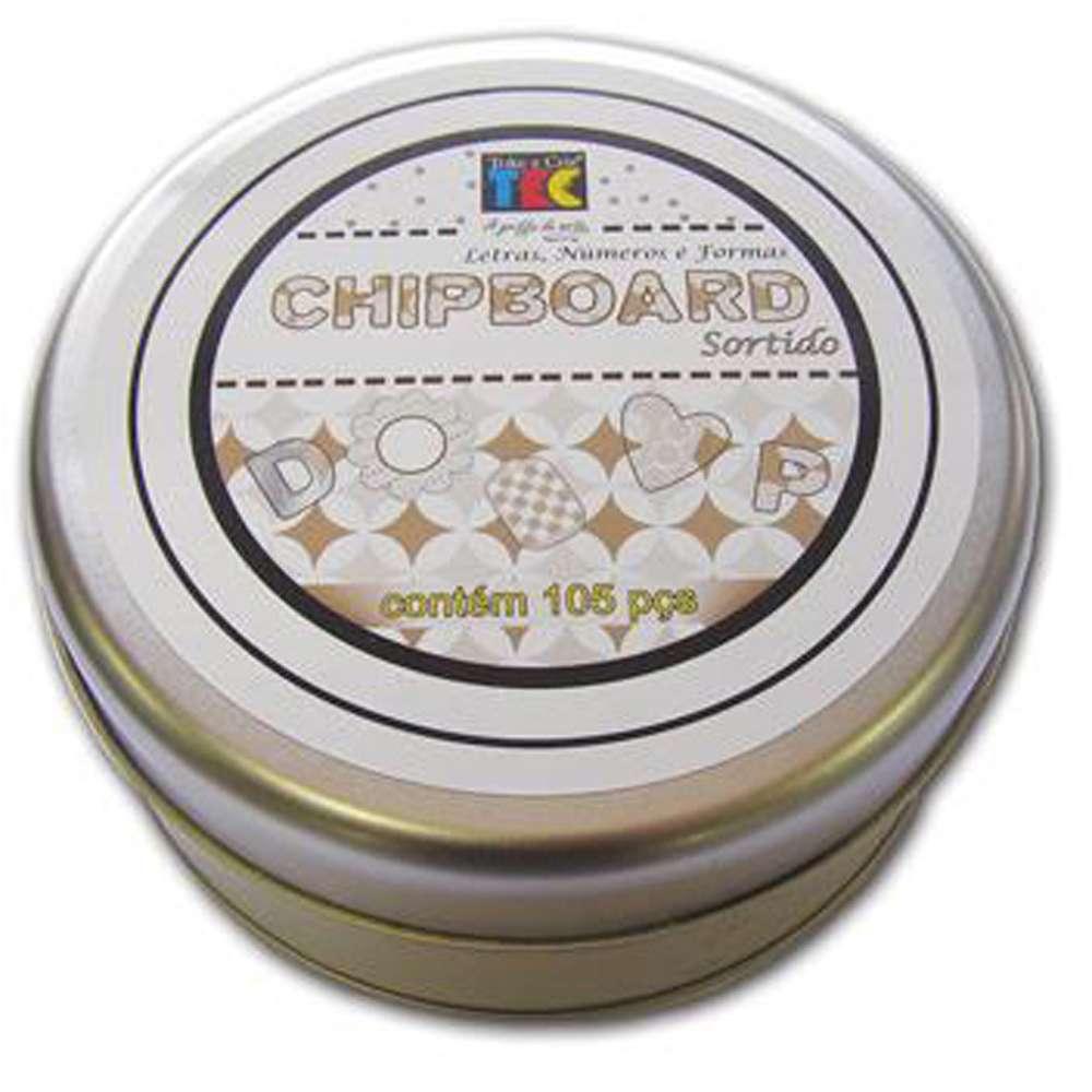 Chipboard Sortido Preto E Branco C/105 Pcs