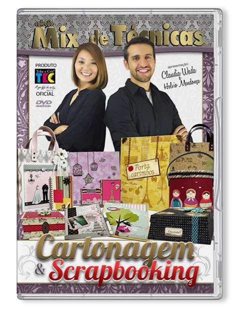 DVD TECNICAS CARTONAGEM E SCRAPBOOKING (BY CLAUDIA WADA E HELVIO MENDONCA)