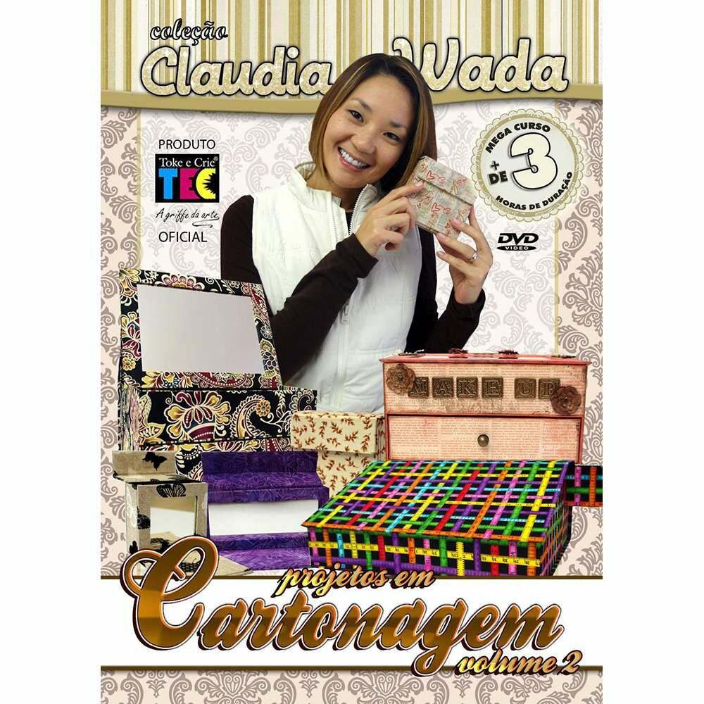 DVD TÉCNICAS PROJETOS EM CARTONAGEM VOL.2 - BY CLAUDIA WADA