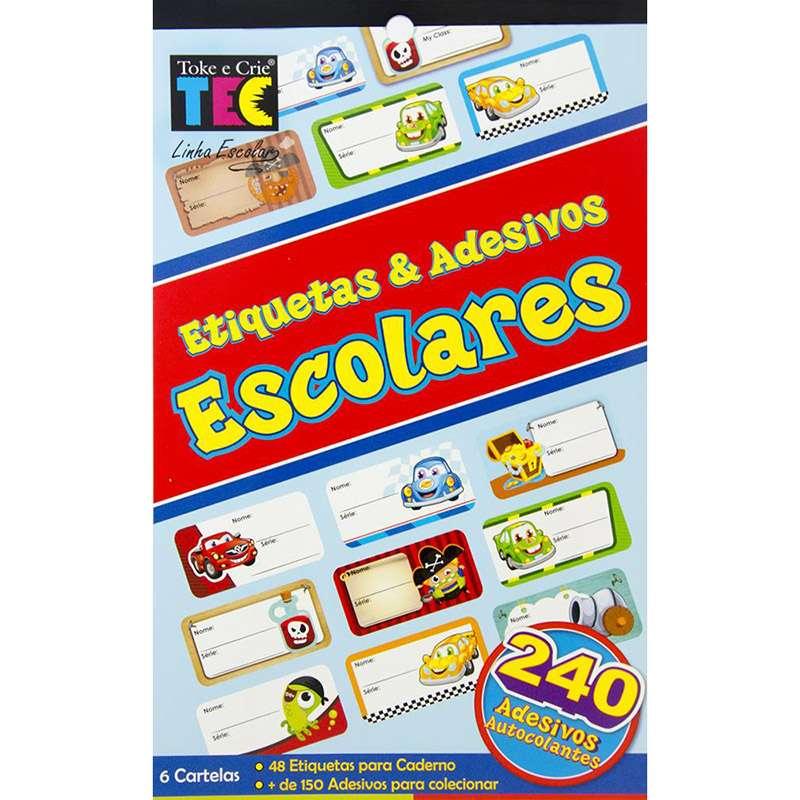 ETIQUETAS E ADESIVOS ESCOLARES PIRATAS E CARROS