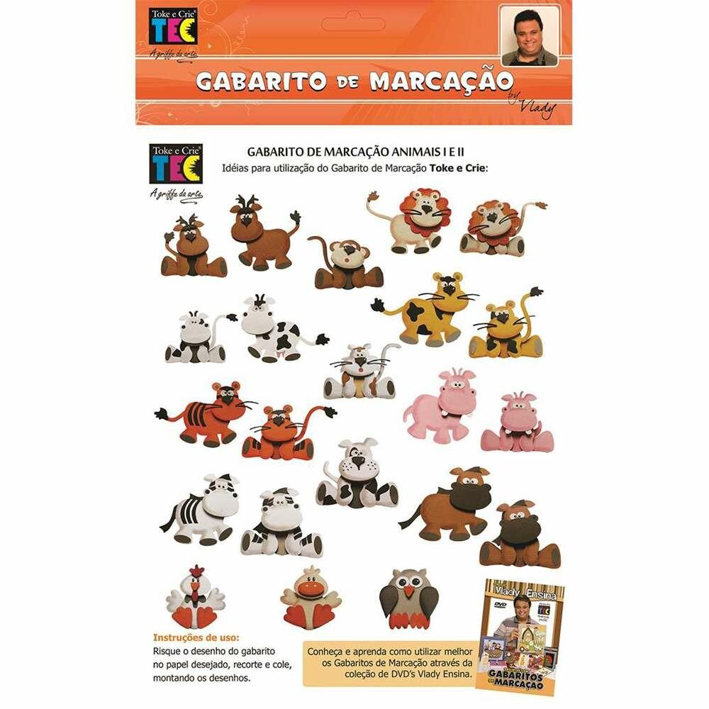 GABARITO DE MARCACAO A/B 230X310 MM ANIMAIS (BY VLADY)
