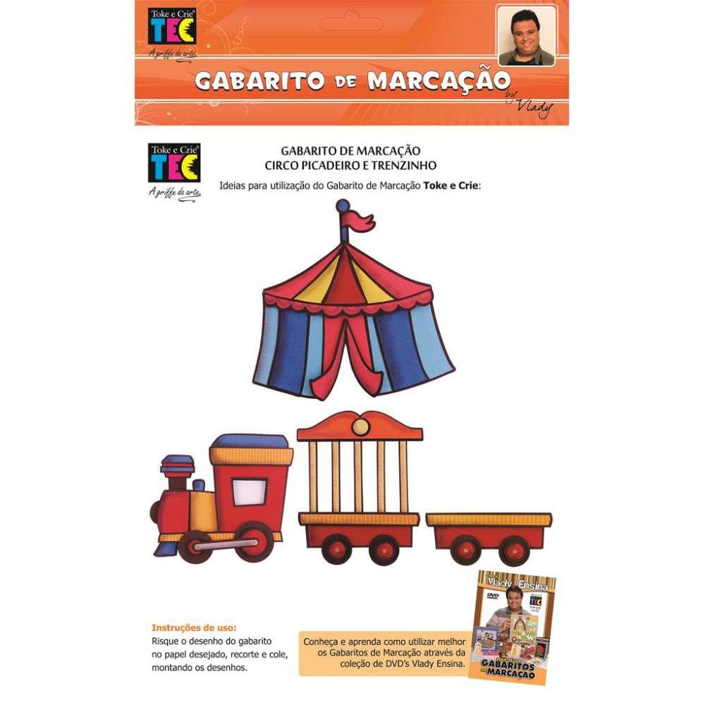 GABARITO DE MARCACAO A/B 230X310 MM CIRCO PICADEIRO E TRENZINHO (BY VLADY)