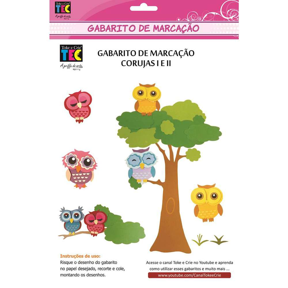 GABARITO DE MARCAÇÃO A/B 230X310 MM CORUJAS