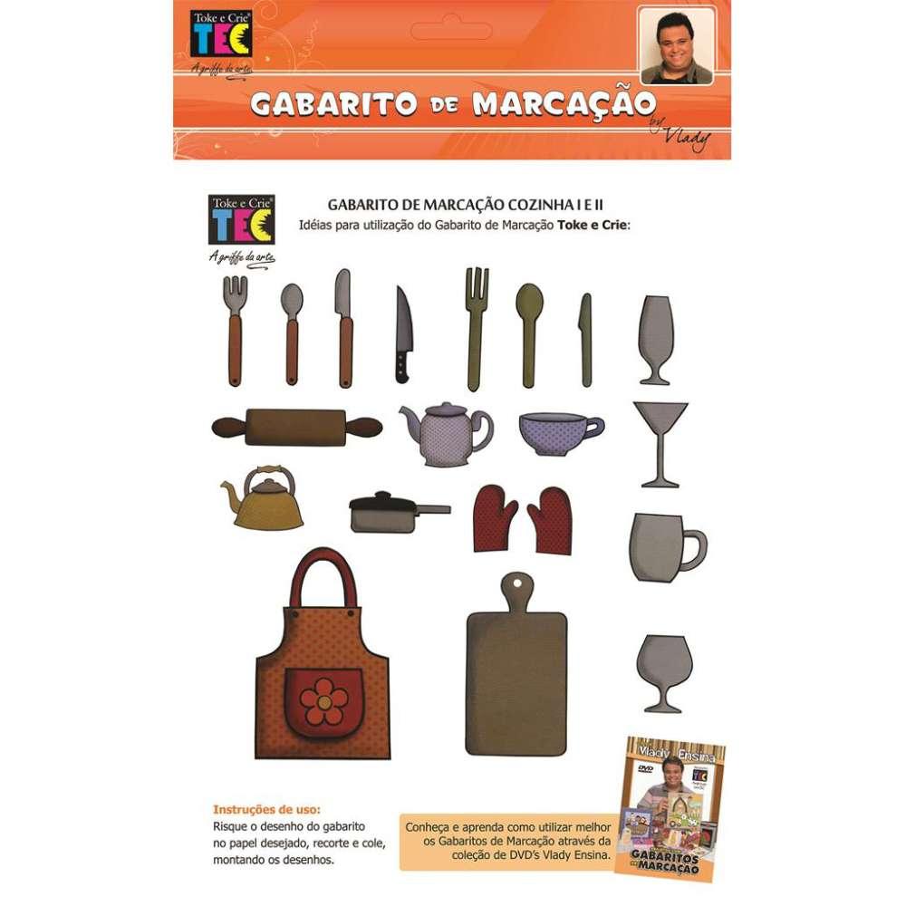 GABARITO DE MARCACAO A/B 230X310 MM COZINHA (BY VLADY)