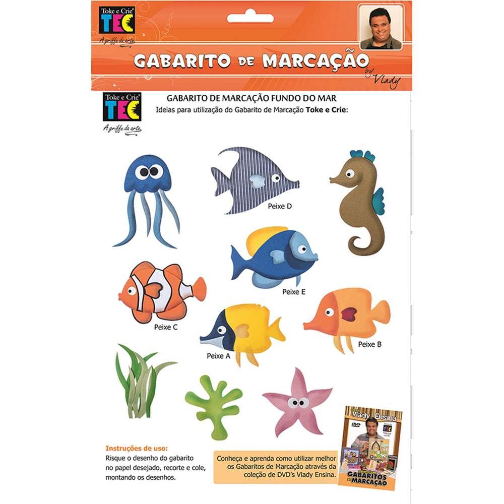 GABARITO DE MARCACAO A/B 230X310 MM FUNDO DO MAR (BY VLADY)