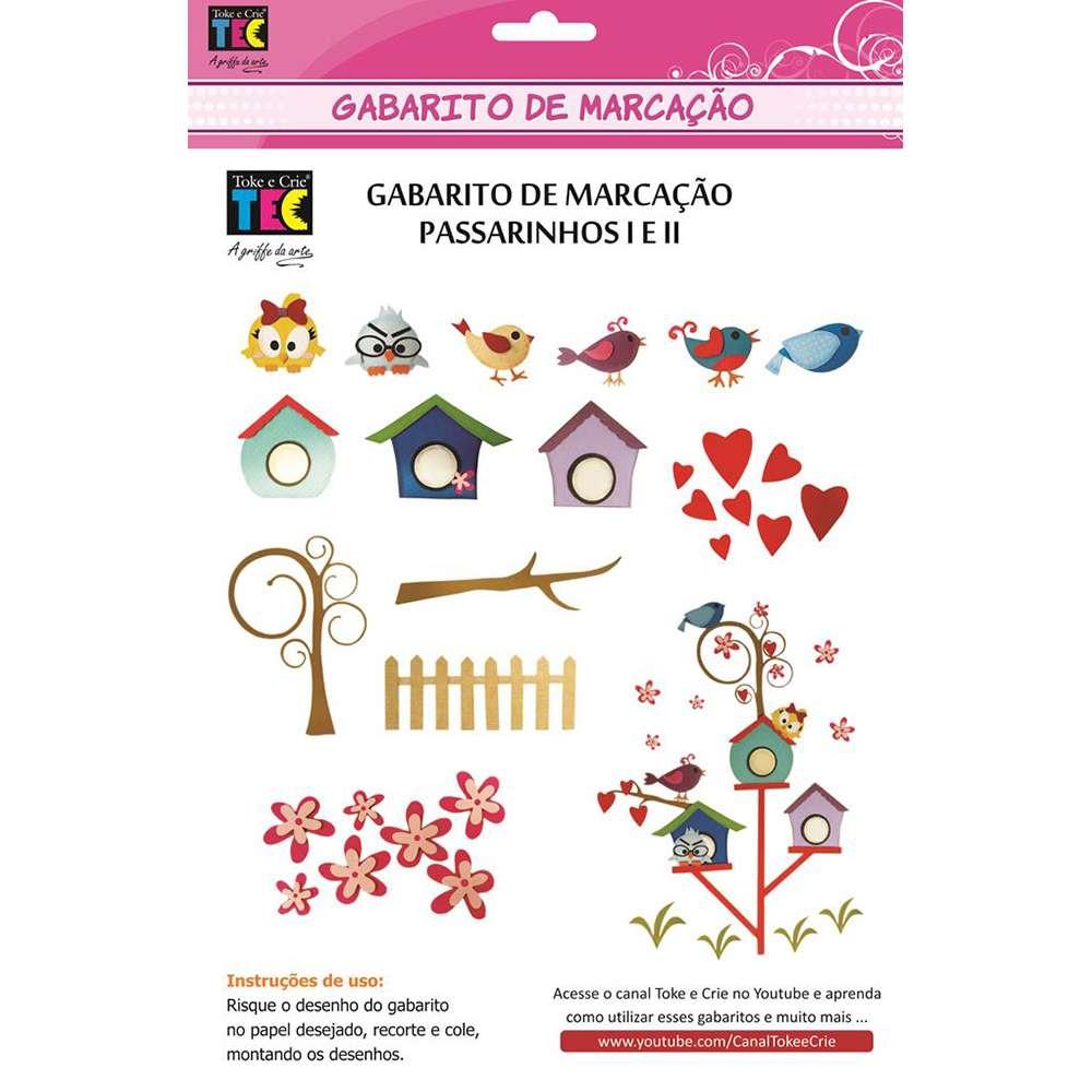 GABARITO DE MARCAÇÃO A/B 230X310 MM PASSARINHOS