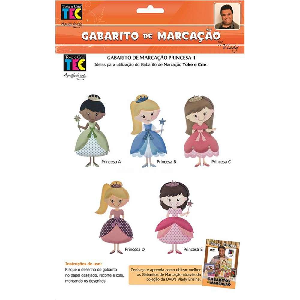GABARITO DE MARCACAO A/B 230X310 MM PRINCESA 2 (BY VLADY)