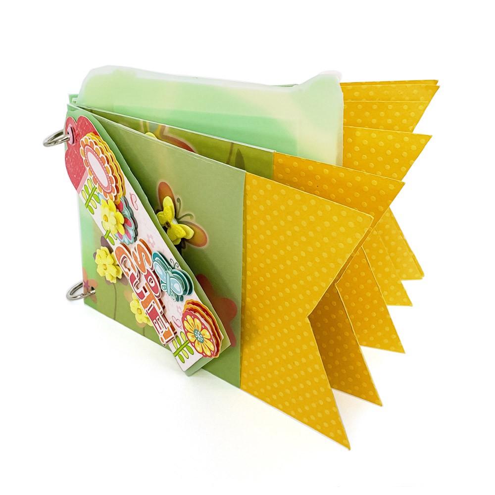 Kit Álbum Argola  Floral