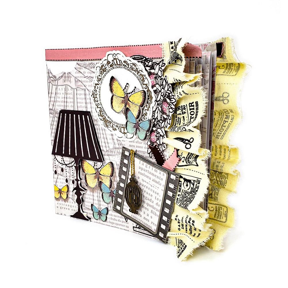 Kit Álbum vintage Borboletas