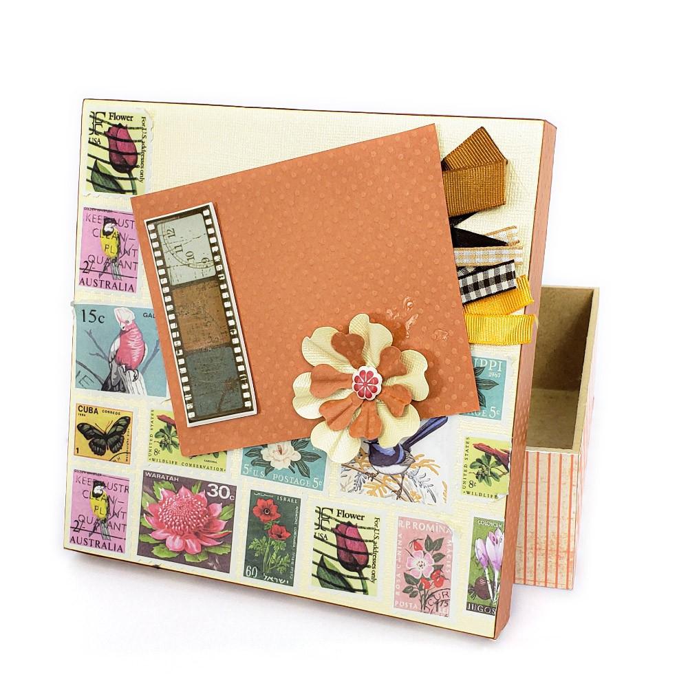 Kit Caixa Floral Quadrada