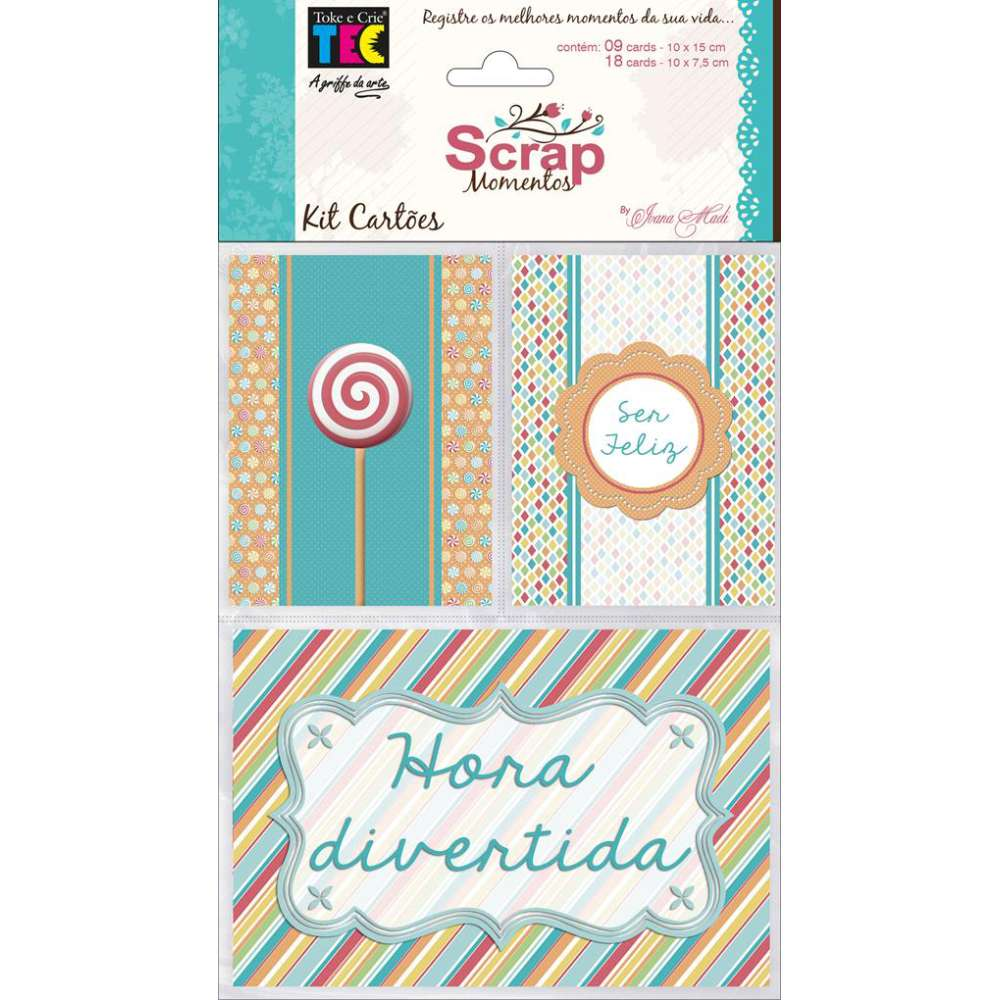 KIT CARTOES P/ SCRAP MOMENTOS ANIVERSARIO (BY IVANA MADI)