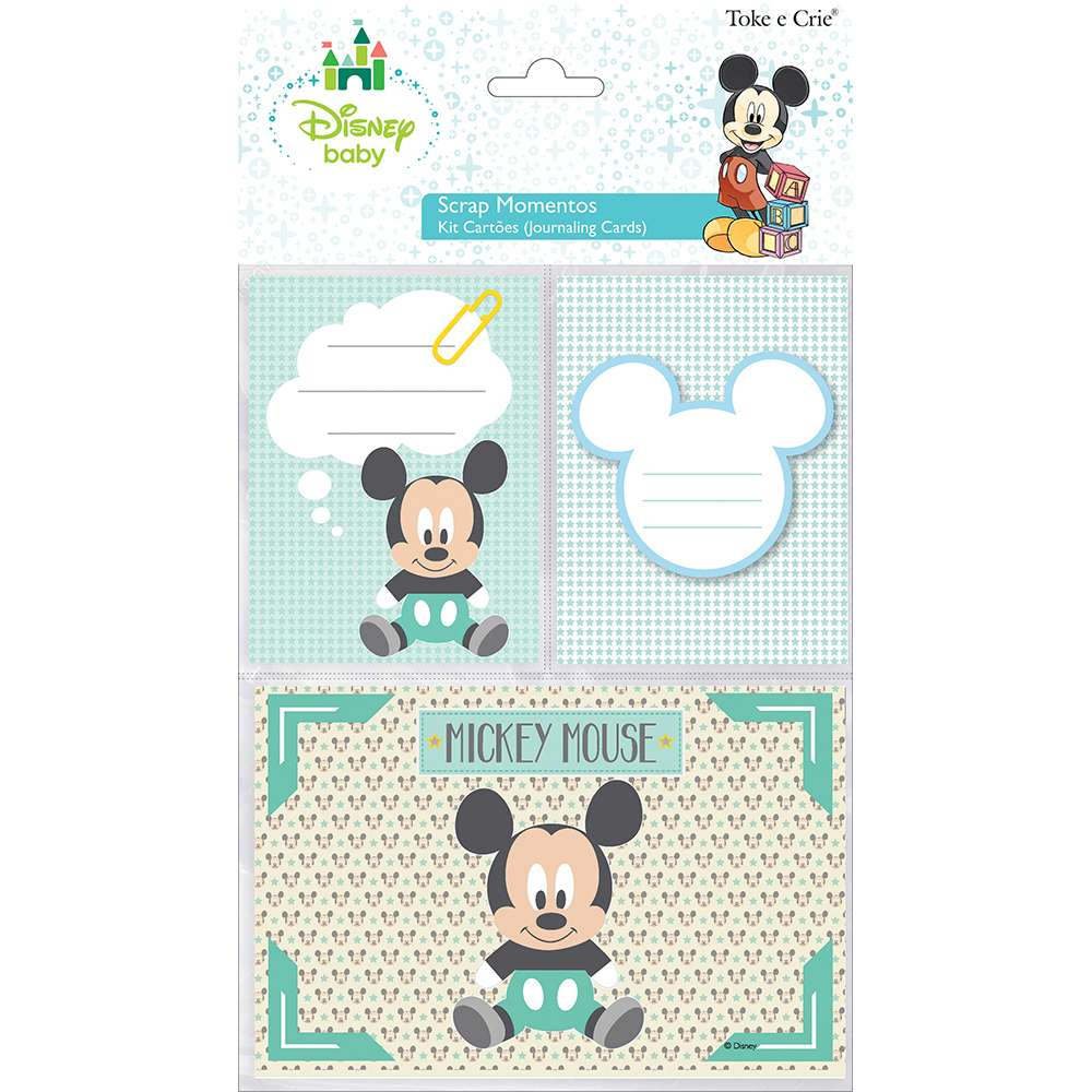 KIT CARTOES P/ SCRAP MOMENTOS BABY MICKEY