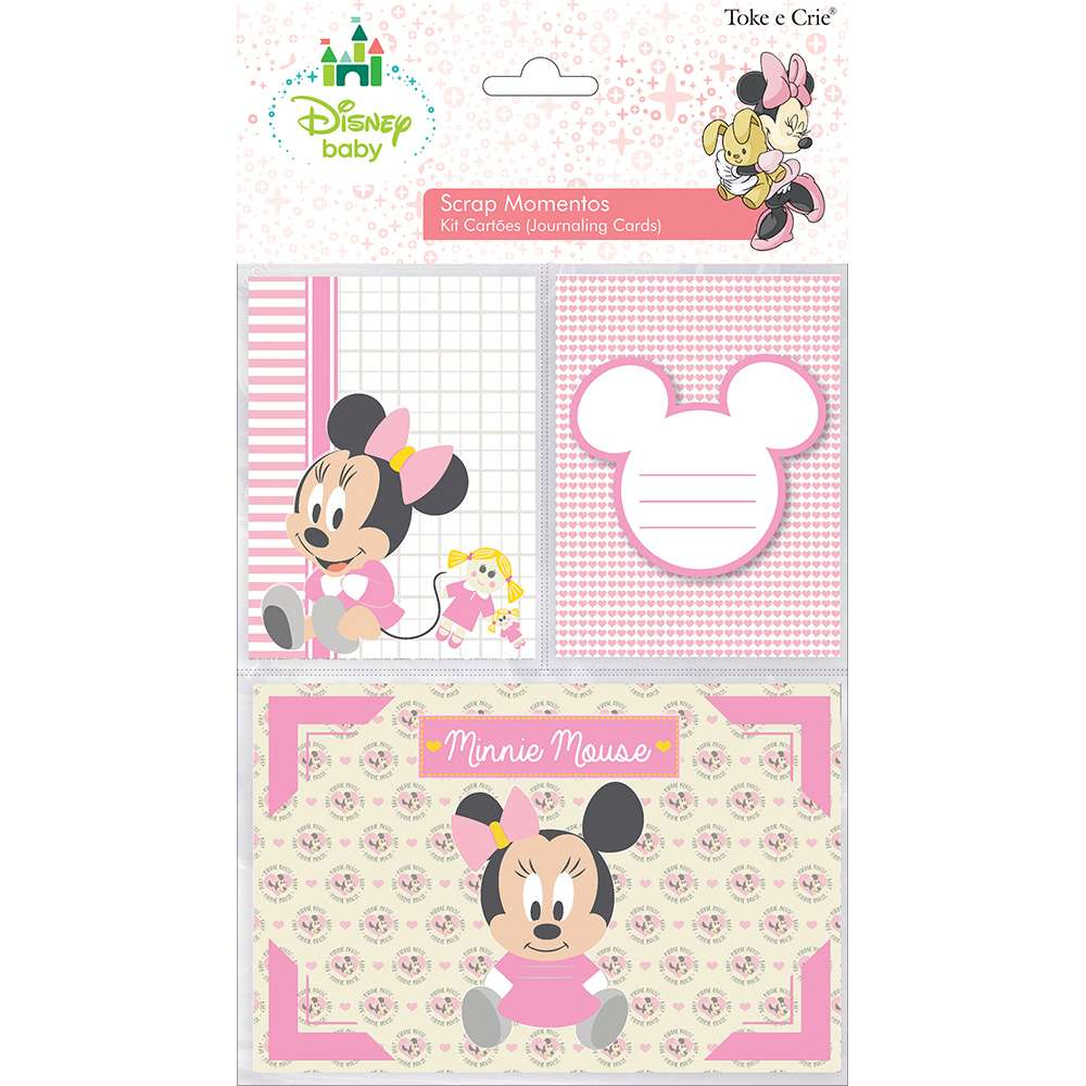 KIT CARTOES P/ SCRAP MOMENTOS BABY MINNIE