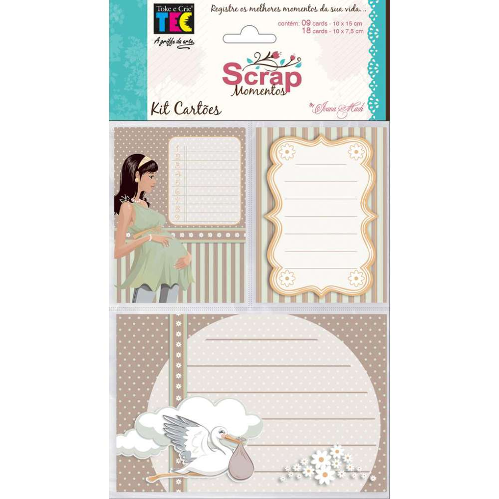 KIT CARTOES P/ SCRAP MOMENTOS GRAVIDEZ (BY IVANA MADI)