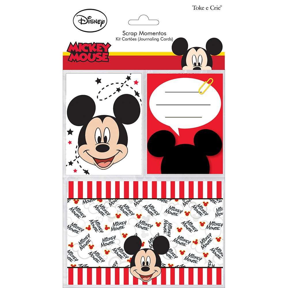 KIT CARTOES P/ SCRAP MOMENTOS MICKEY MOUSE