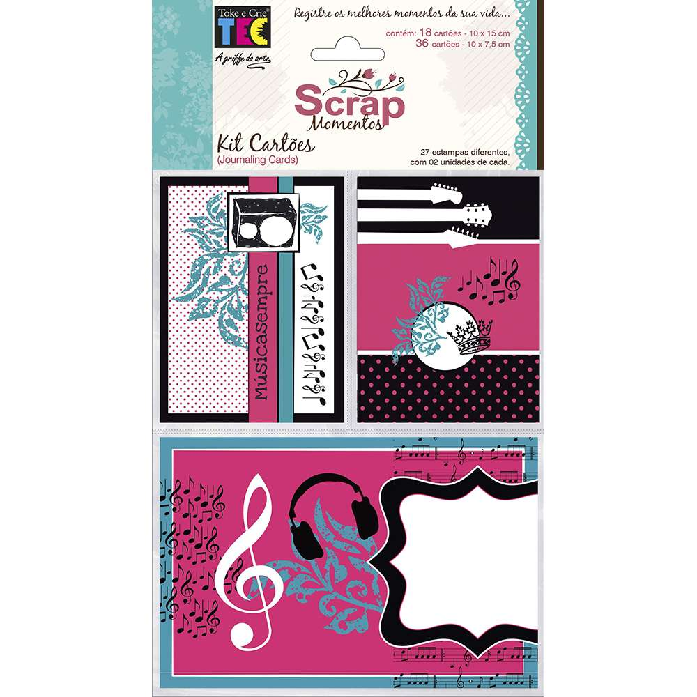 KIT CARTOES P/ SCRAP MOMENTOS TEEN (BY FLAVIA TERZI)