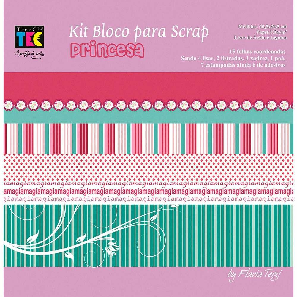 KIT P/ SCRAPBOOK MINI II PRINCESA (BY FLAVIA TERZI)