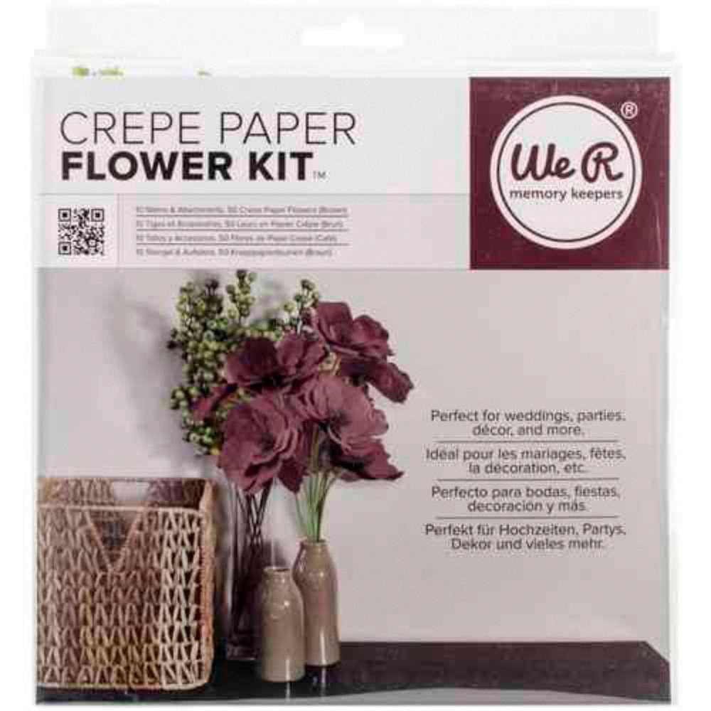 KIT PARA FAZER FLORES MARROM - BROWN CREPE PAPER FLOWERS KIT WE R