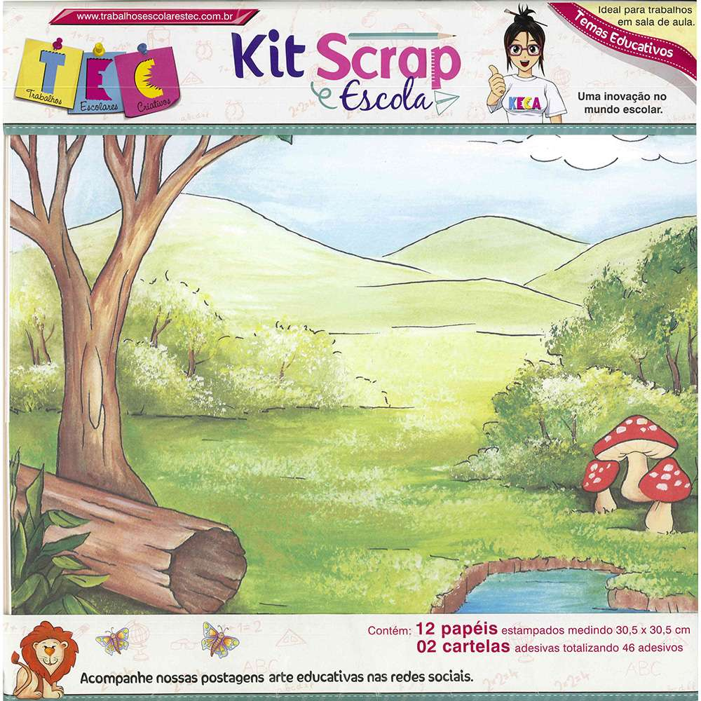KIT SCRAP ESCOLA MATERIAS BASICAS (BY HELVIO MENDONCA)