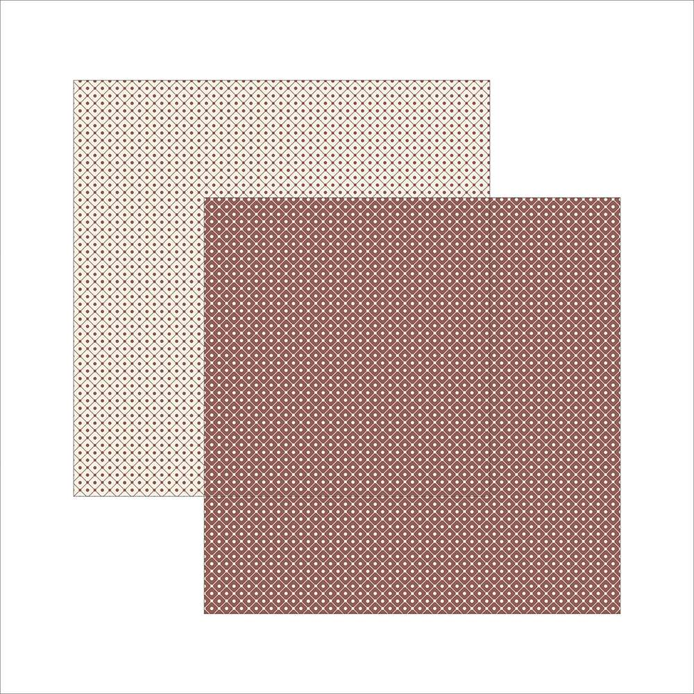 Papel P/ Scrap Basico Classico Texturizado Marrom Xadrez (by Ivana Madi)