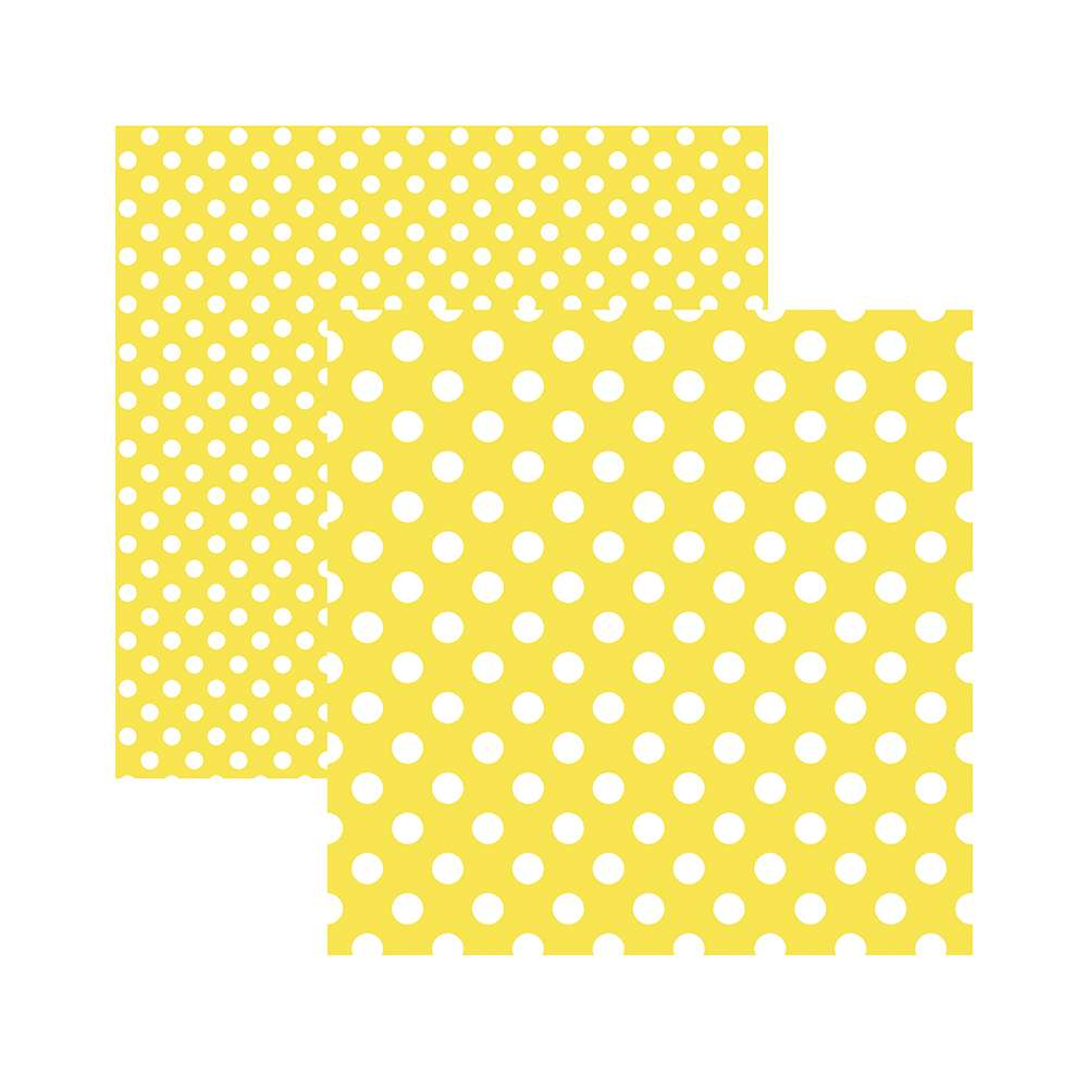 Papel P/ Scrap Basico Poa Grande Amarelo (by Mariceli)