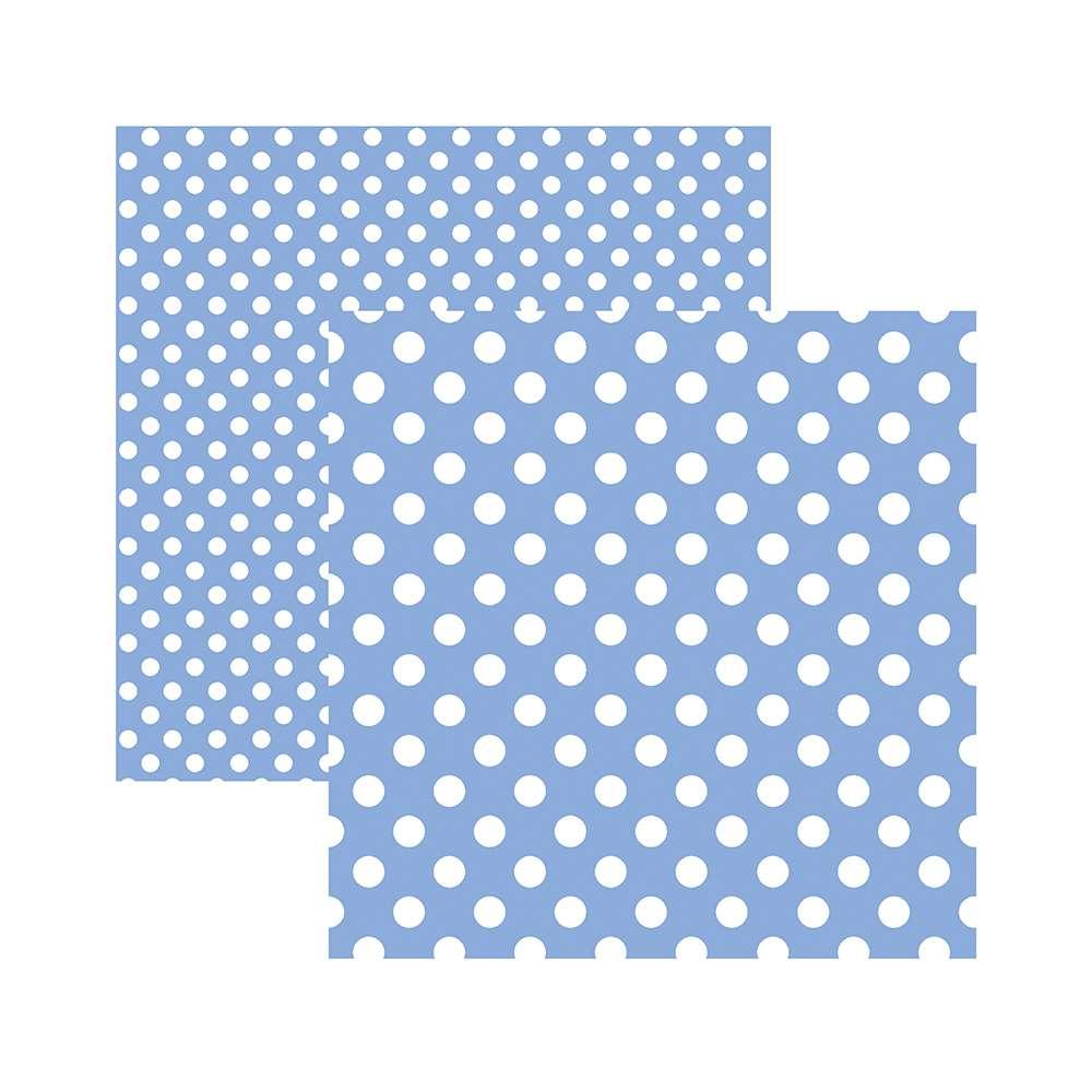 Papel P/ Scrap Basico Poa Grande Azul Serenity (by Mariceli)
