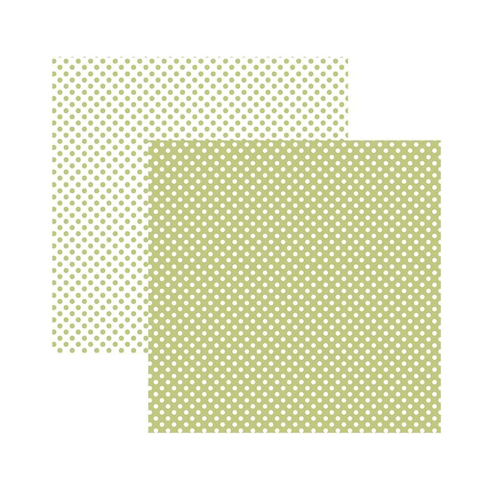 Papel P/ Scrap Basico Poa Pequeno Verde Claro (by Mariceli)