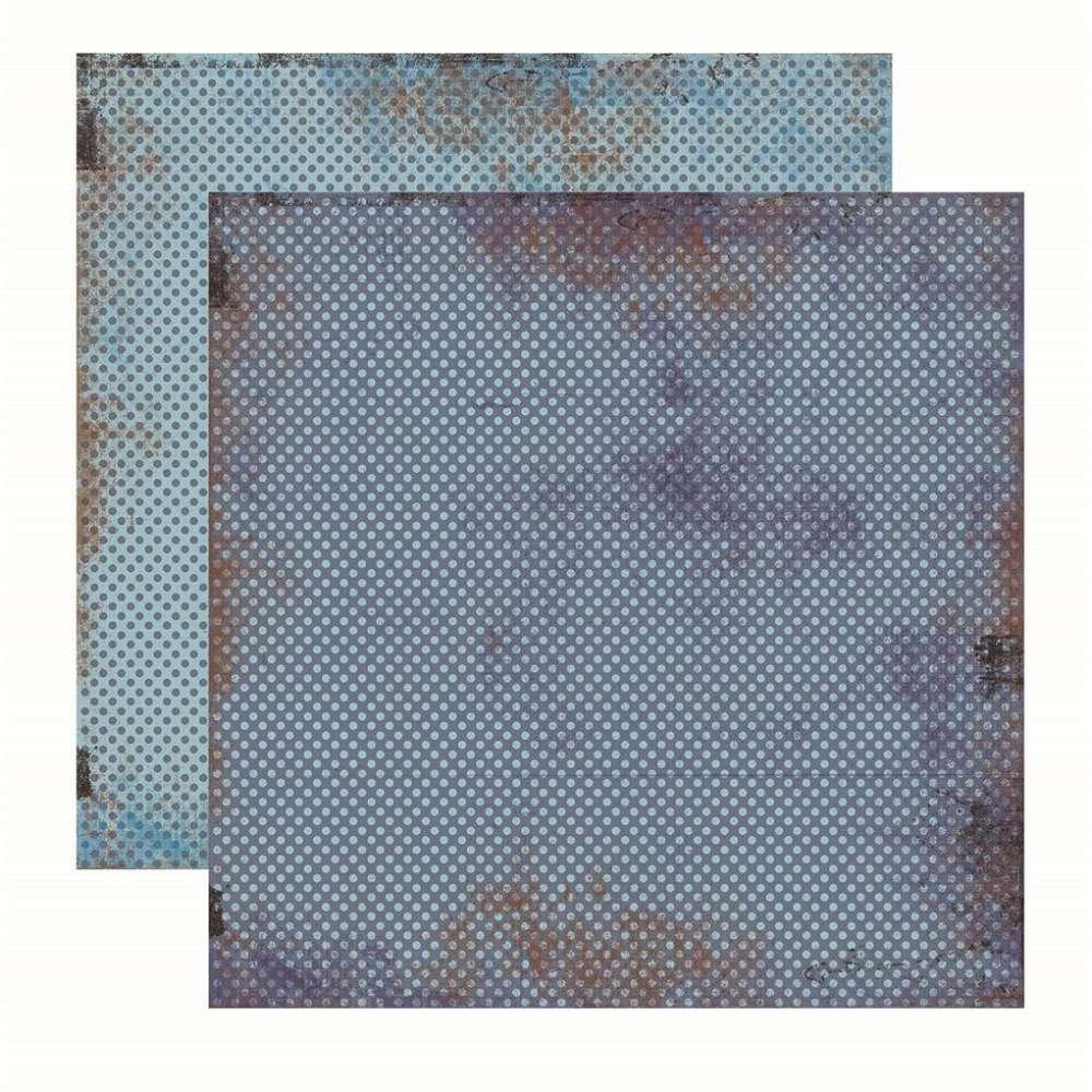 Papel P/ Scrap Basico Vintage Azul Poa (by Flavia Terzi)