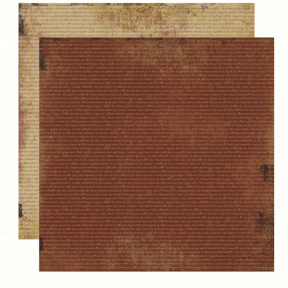 Papel P/ Scrap Basico Vintage Marrom Manuscrito (by Flavia Terzi)