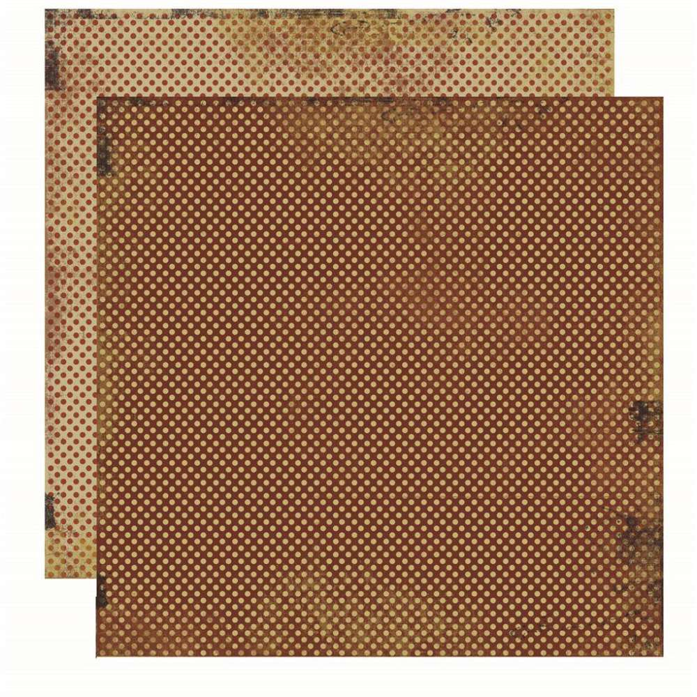 Papel P/ Scrap Basico Vintage Marrom Poa (by Flavia Terzi)