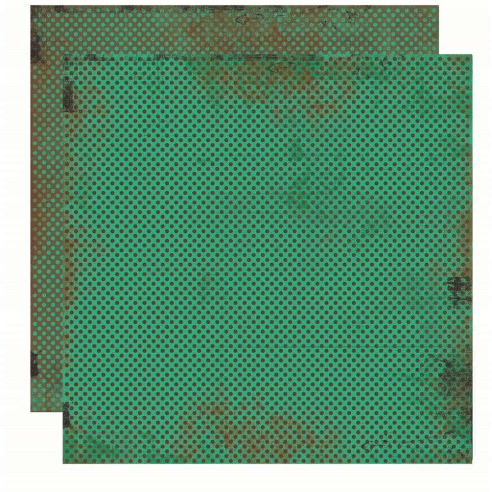 Papel P/ Scrap Basico Vintage Verde Poa (by Flavia Terzi)