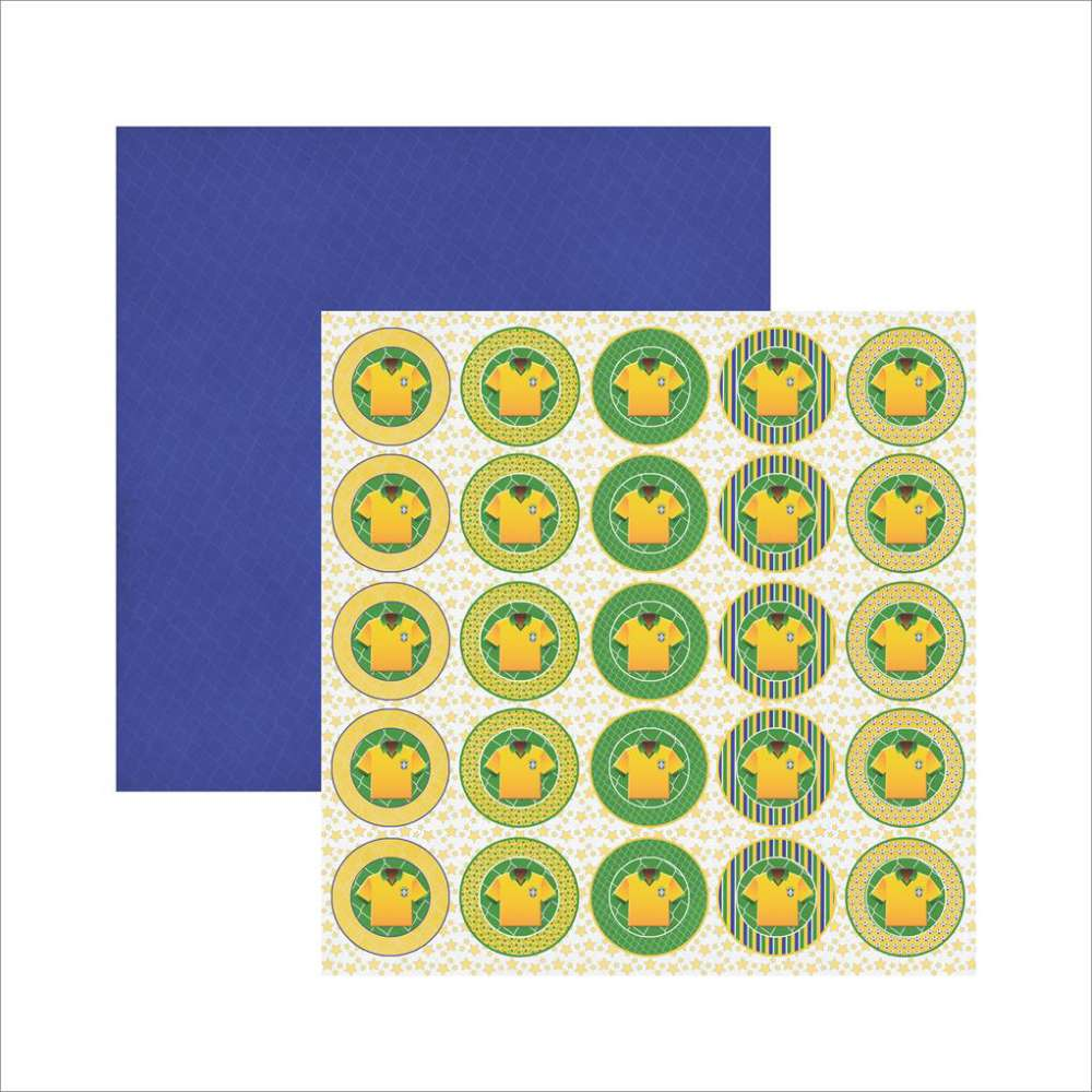 Papel P/ Scrap Df Colecoes Brasil Medalhao Camiseta (by Ivana Madi)