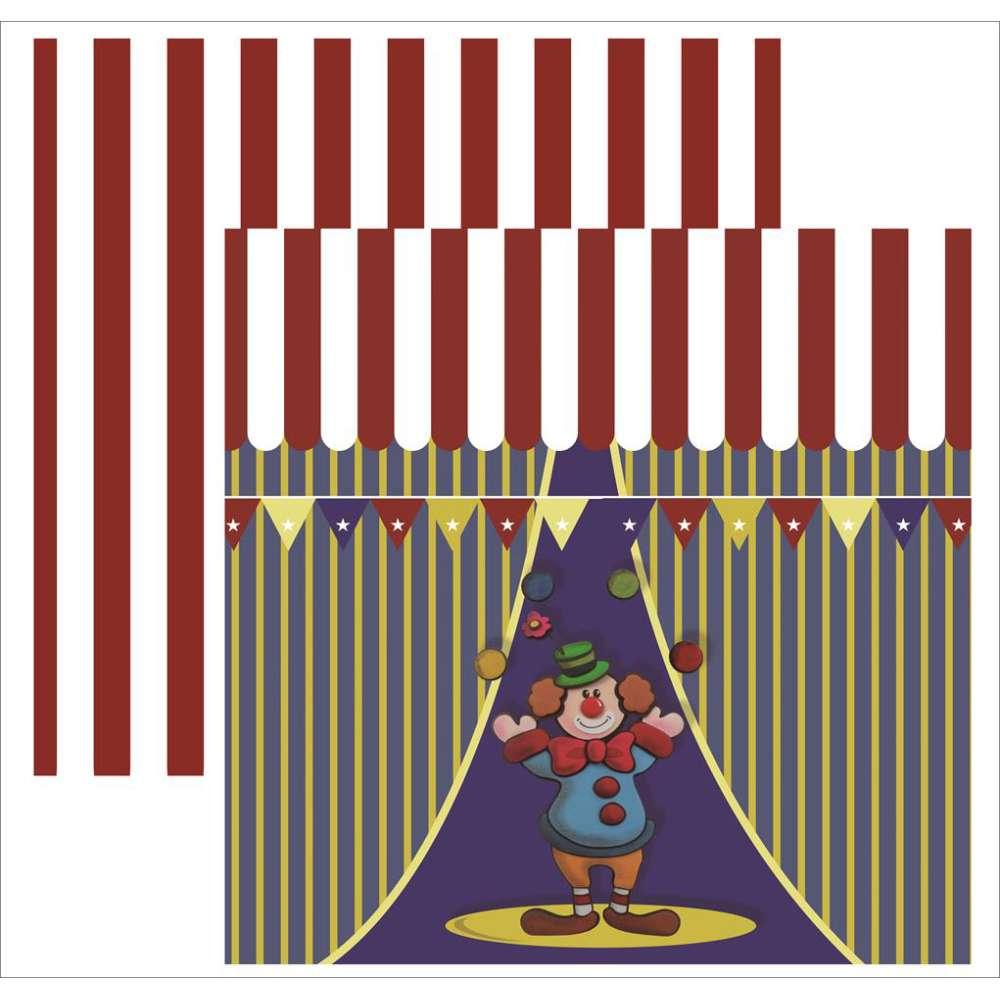 Papel P/ Scrap Df Colecoes Circo Palhaco (by Vlady)