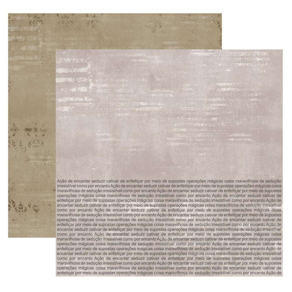 Papel P/ Scrap Df Colecoes Encanto Texto Metalizada (by Flavia Terzi)