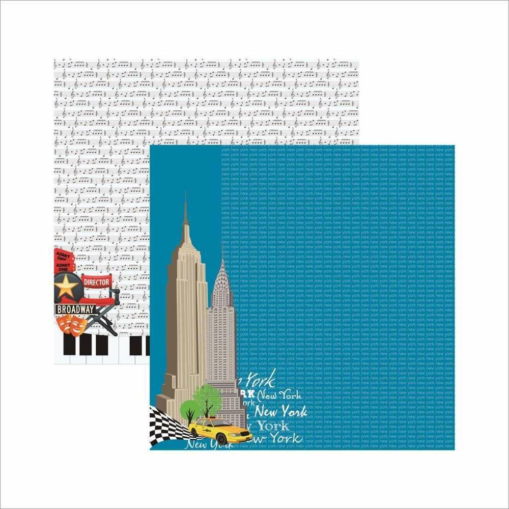 PAPEL P/ SCRAP DF COLECOES NEW YORK PREDIOS (BY FLAVIA TERZI)