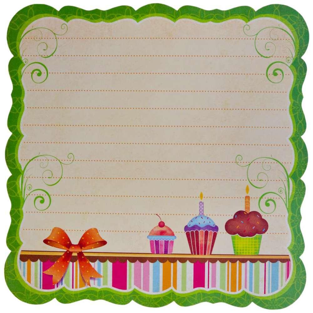 Papel P/ Scrap Df Cupcake Estilizada