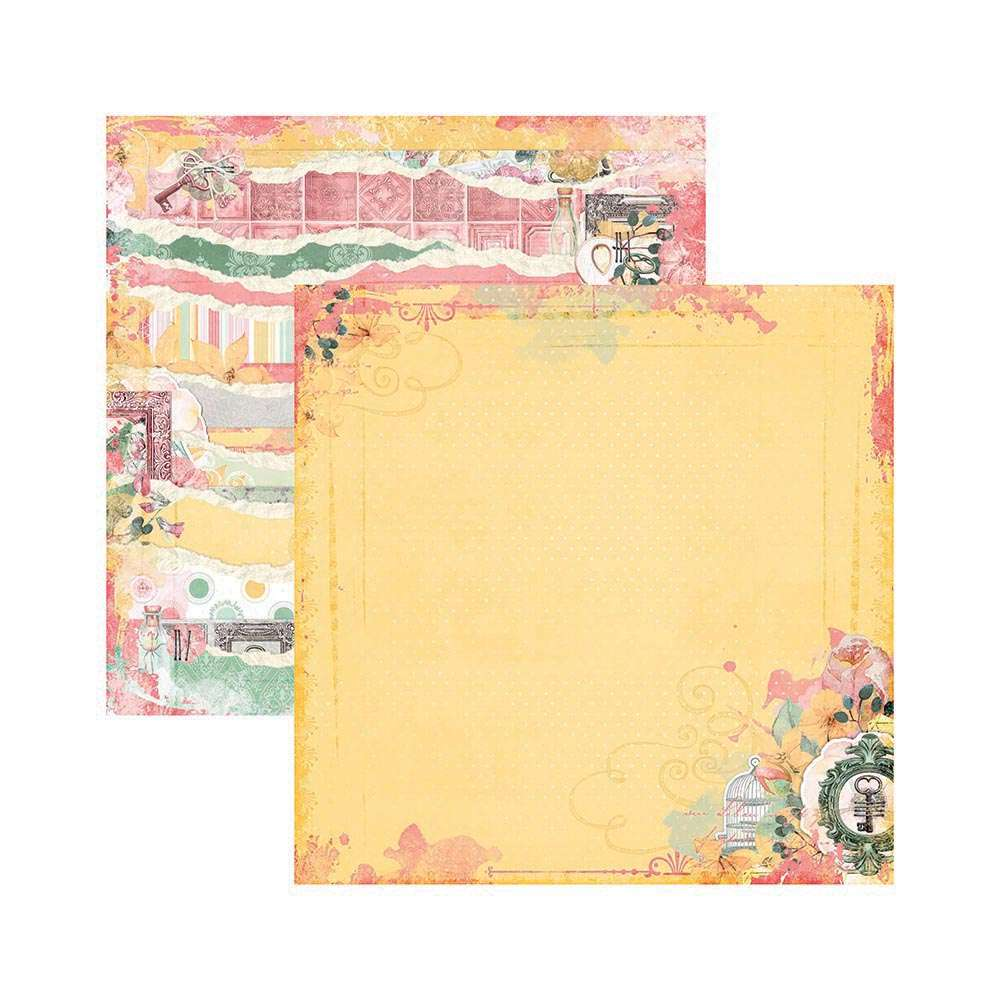 PAPEL P/ SCRAP DF SUNSHINE BLISS ESTAMPAS