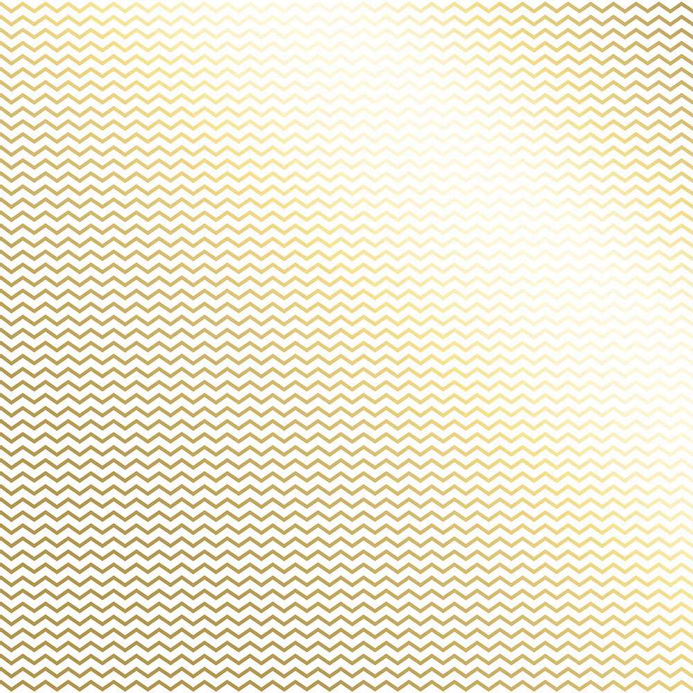 Papel P/ Scrap Metalizada Chevron Dourado Fd Branco