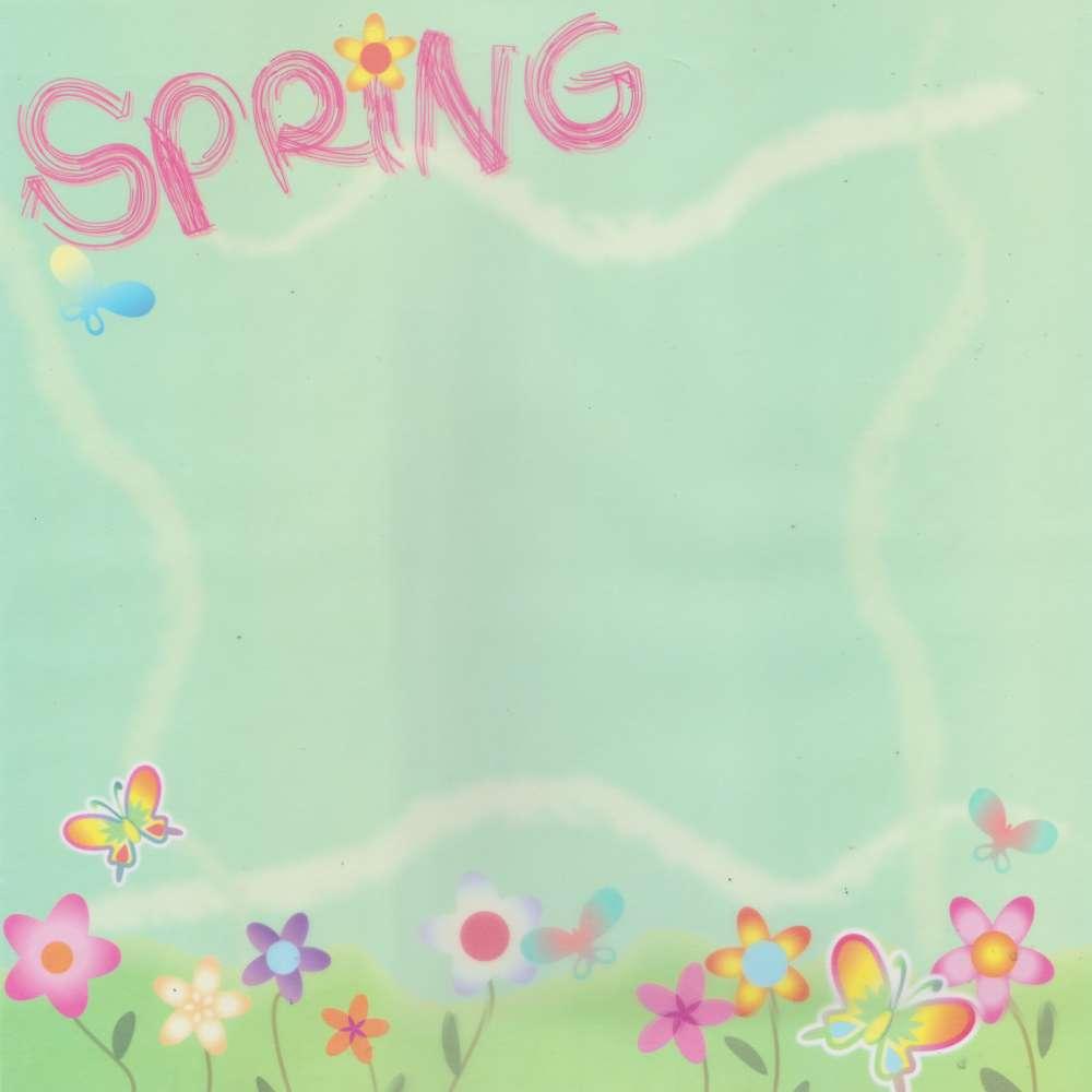Papel P/ Scrap Vegetal Primavera