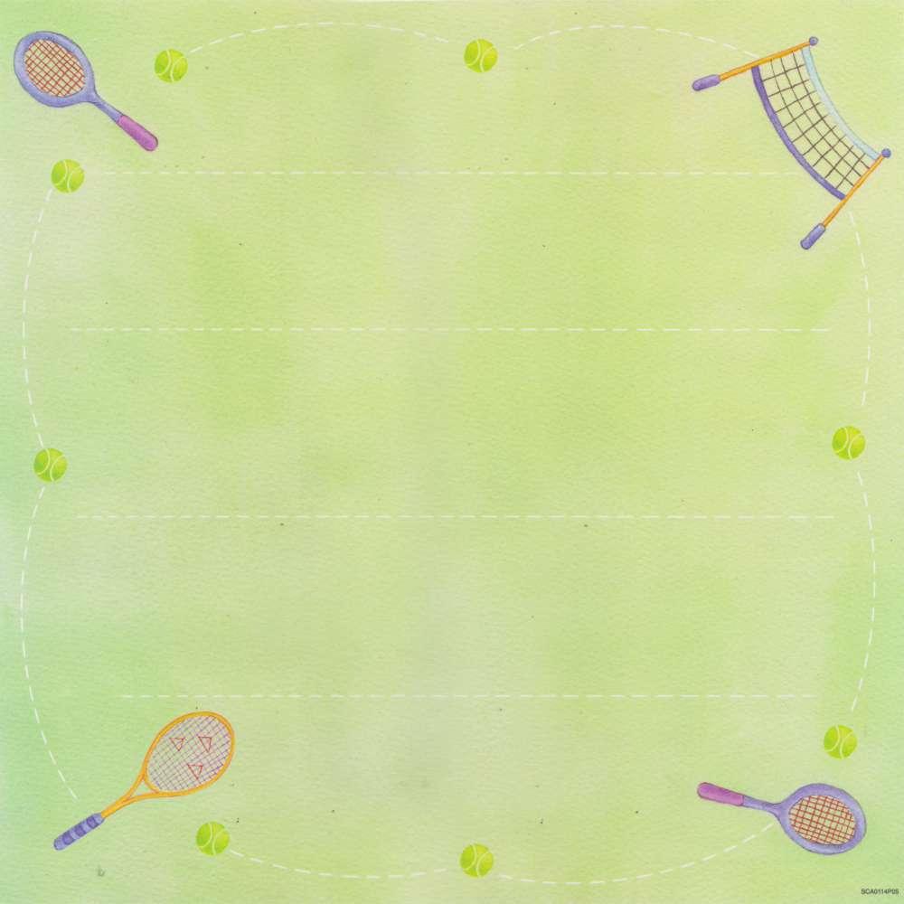 Papel P/ Scrap Vegetal Tenis