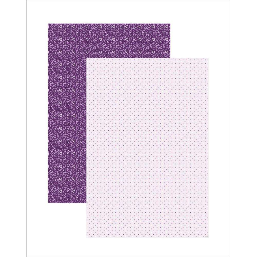 PAPEL PLUS MULTITONS CORACOES LILAS 64X94CM (BY FLAVIA TERZI)